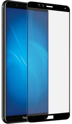 Закаленное стекло с цветной рамкой (fullscreen+fullglue) для Huawei Honor 7X DF hwColor-26 (black) аксессуар защитное стекло для huawei honor 7x df fullscreen fullglue hwcolor 26black