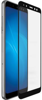 Закаленное стекло с цветной рамкой (fullscreen+fullglue) для Samsung Galaxy A8 Plus (2018) DF sColor-37 (black) закаленное стекло 3d с цветной рамкой fullscreen для samsung galaxy s9 plus df scolor 35 black