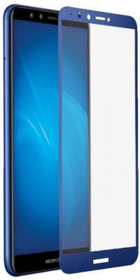 Закаленное стекло с цветной рамкой (fullscreen+fullglue) для Huawei Y9 (2018)/Y9 Prime (2018) DF hwColor-48 (blue) shs красный huawei y9 2018