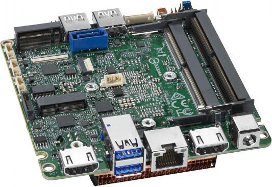 Intel MotherBoard BLKNUC7i5BNB, Intel i5-7260U, 3.4GHz, 1xDDR4 SODIMM (up to 2133MHz/32Gb), VGA Intel Iris Plus Graphics 640 (USB-C(DP1.2)+HDMI 4K), 4xUSB3.0, GBL, WiFi+BT, 955784