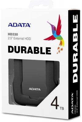 Жесткий диск A-Data USB 3.0 4Tb AHD330-4TU31-CBK HD330 DashDrive Durable 2.5 черный жесткий диск a data usb 3 0 4tb ahd330 4tu31 crd hd330 dashdrive durable 2 5 красный