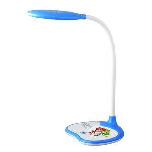 ЭРА Б0028462 Настольный светодиодный светильник NLED-433-6W-BU синий, дизайн Фиксики {плавный диммер яркости, цвет. температура 3000/4500/6500К}