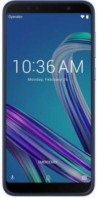 Смартфон ASUS ZenFone Max Pro M1 ZB602KL 32 Гб синий (90AX00T3-M01300) сотовый телефон asus zenfone max m1 zb555kl 16gb