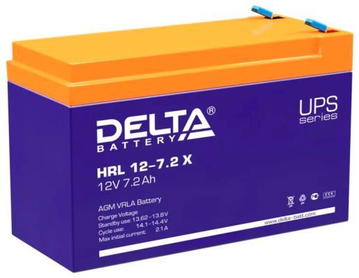 Delta HRL 12-7.2 Х (7.2 А\\ч, 12В) свинцово- кислотный аккумулятор аккумулятор delta gx 12 120 12v 120 а ч gel
