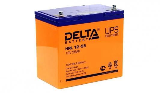 Delta HRL 12-55 X (55 А\\ч, 12В) свинцово- кислотный аккумулятор аккумулятор delta gx 12 120 12v 120 а ч gel