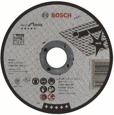 Картинка для Круг отрезной BOSCH Best for Inox 125x2,5x22 (2.608.603.504)  по нержавеющей стали