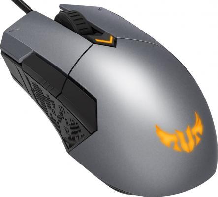 Мышь проводная ASUS TUF Gaming M5 серый USB