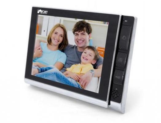 Комплект видеодомофон+вызывная панель FORT Automatics C0802HF-01 White с координатным блоком сопряжения видеодомофон kenwei kw e705fc white