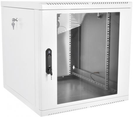 Шкаф телекоммуникационный настенный разборный 9U (600х520), съемные стенки, дверь стекло