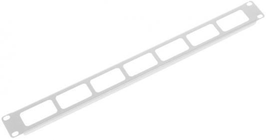 Органайзер кабельный горизонтальный 19 1U с окнами для кабеля цмо органайзер кабельный горизонтальный для крепления стяжек 19 2u