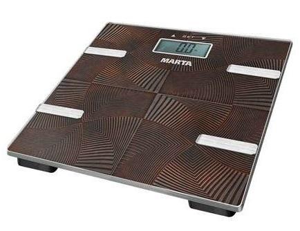 Весы напольные Marta MT-1675 коричневый оникс