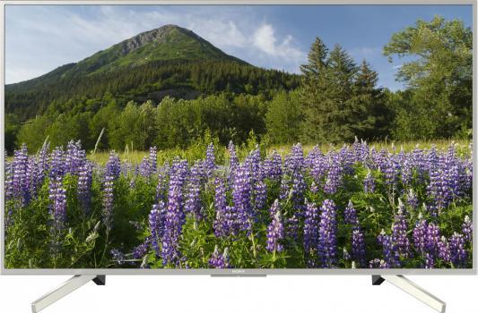Телевизор 49 SONY KD-49XF7077 черный серебристый 3840x2160 50 Гц Wi-Fi Smart TV RJ-45 жк телевизор sony kd 49xf7077