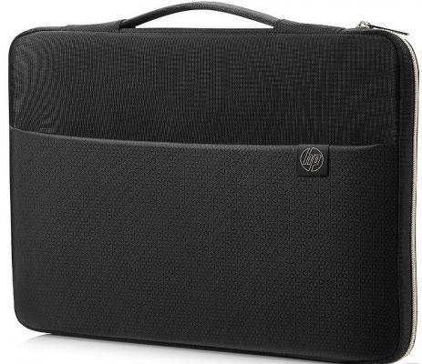 Чехол для ноутбука 15.6 HP Carry Sleeve неопрен черный 3XD35AA сумка hp crosshatch carry sleeve 15 черный