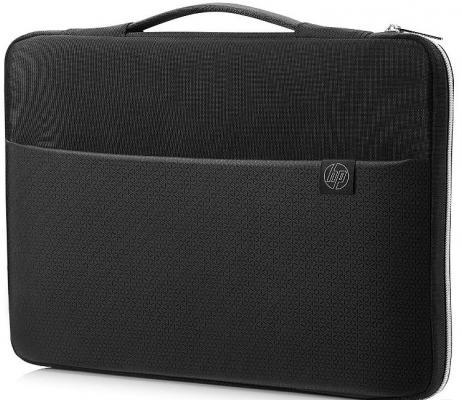 Чехол для ноутбука 15.6 HP Carry Sleeve неопрен черный 3XD36AA чехол для ноутбука 17 hp carry sleeve черный серебристый