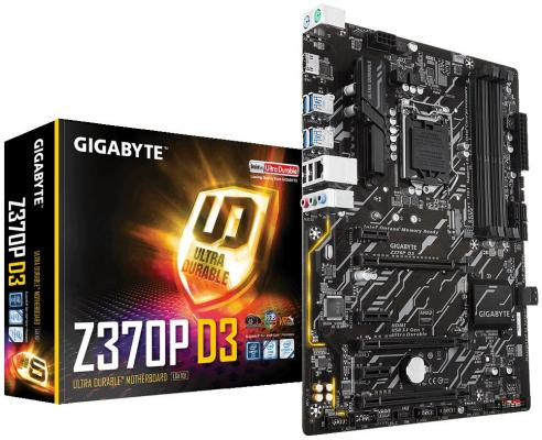 Материнская плата GigaByte Z370P D3 Socket 1151 Z370 4xDDR4 3xPCI-E 16x 3xPCI-E 1x 6 ATX Retail б/у