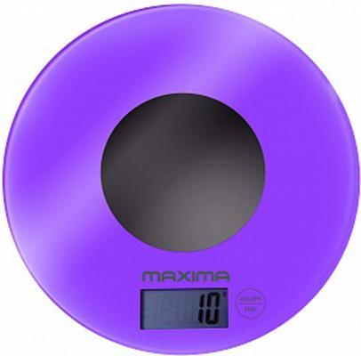Весы кухонные MAXIMA MS-067 фиолетовый maxima ms 017