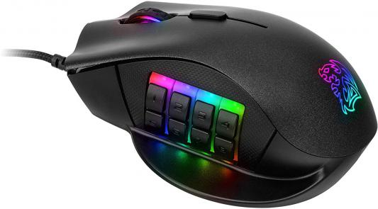 Мышь проводная Tt eSPORTS Nemesis RGB чёрный USB мышь проводная tt esports by thermaltake azurues mini mo arm005dt black