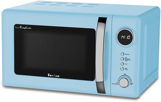 Микроволновая печь TESLER ME-2055 Sky Blue, соло, 20л, мех. управ, 700Вт, голубой цена