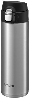Термокружка Tiger MMJ-A036 Clear Stainless 0,36 л (цвет стальной), откидная крышка на кнопке, нержавеющая сталь)