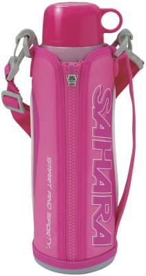 Термос классический Tiger MMN-W100 Pink, 1л (нержавеющая сталь, цвет розовый, чехол с регулируемым ремнем для переноски в комплекте)