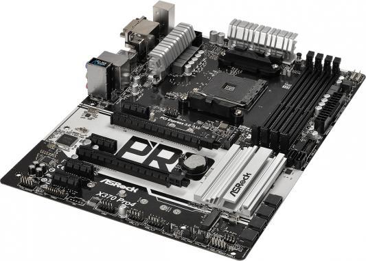 Материнская плата ASRock X370 Pro4 Socket AM4 AMD X370 4xDDR4 2xPCI-E 16x 4xPCI-E 1x 6 ATX Retail материнская плата asrock x370 gaming x
