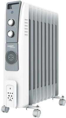 Масляный радиатор Scarlett SC 51.2409 S5 2400 Вт термостат колеса для перемещения светодиодный индикатор белый серый термовентилятор scarlett sc fh53016 2000 вт ручка для переноски вентилятор термостат белый
