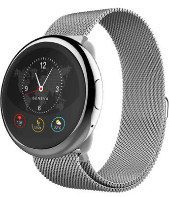 Смарт часы MyKronoz ZeRound2HR Elite цвет серебро, миланский сетчатый браслет цвет серебро цена и фото