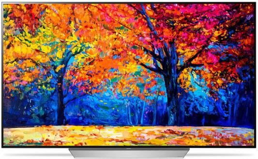 Телевизор OLED LG 65 OLED65C7V черный/серебристый/Ultra HD/50Hz/DVB-T2/DVB-C/DVB-S2/USB/WiFi/Smart TV (RUS) oled телевизор lg 55eg9a7v