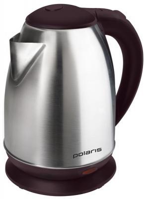 Чайник электрический Polaris PWK 1772CA 1.7л. 1800Вт бордовый (корпус: нержавеющая сталь/пластик)