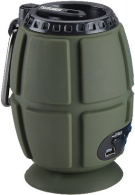 Колонка порт. Telefunken TF-PS1232B зеленый 2W 1.0 BT (TF-PS1232B(ЗЕЛЕНЫЙ))