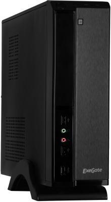 Exegate EX268690RUS Корпус MiniITX Exegate MI-207 Black, miniITX/mATX, <M400, 80mm>, 2*USB, Audio цена и фото