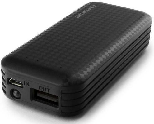 Гарнизон GPB-104 Портативный аккумулятор 4000 мА/ч, 1 USB, 1A, фонарик, черный