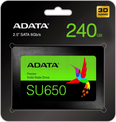 Накопитель SSD 2.5 240 Gb A-Data ASU650SS-240GT-R Read 520Mb/s Write 450Mb/s 3D NAND