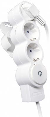 Удлинитель REV RITTER 32008 3 бытовой 3гнезда с выключателем с землей со шторками 3м rev ritter 32260 3