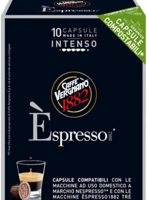 Кофе в капсулах Vergnano Espresso: Intenso блюз эспрессо форте кофе молотый в капсулах 55 г