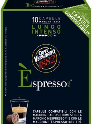 Кофе в капсулах Vergnano Espresso: Lungo Intenso кофе в капсулах tassimo карт нуар кафе лонг интенс 128г