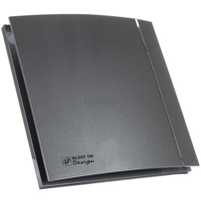 Вентилятор вытяжной SOLER&amp,PALAU Silent-100 CRZ Grey Design 4С  95 м3/ч. Установочный д 98.9мм