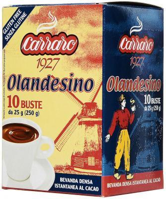 Растворимое какао Carraro Cacao Olandesino 250 гр.