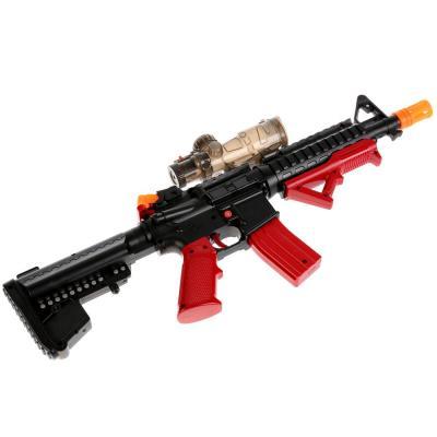Купить Автомат Shantou Gepai YT-010 красный черный 1710G269, черный, красный, 6x55x26 см, для мальчика, Игрушечное оружие