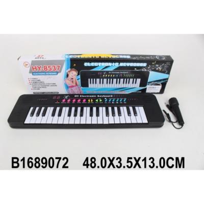 Купить Электроорган на бат., микрофон, 37 клавиш HY-8537 в кор. в кор.2*30шт, Shantou, Детские музыкальные инструменты