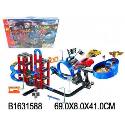 Купить Трек с машинками и аксесс., в ассорт. 8899-82 в кор. в кор.6шт, Shantou, Гаражи, парковки, треки