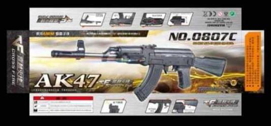 Автомат Shantou Gepai АК-47 серый 1B00712