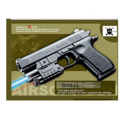 Купить Пистолет Shantou Gepai K2119-G черный 1B00113, 4x21x15 см, для мальчика, Игрушечное оружие