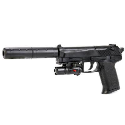 Купить Пистолет Shantou Gepai SP3855-D черный 1B00102, 4x23x16 см, для мальчика, Игрушечное оружие
