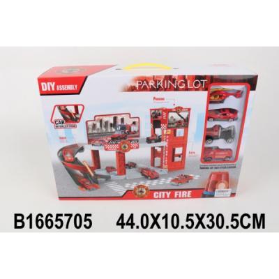 Купить Парковка пожарная станция с машинками 336-2 в кор. в кор.2*9шт, Shantou, Гаражи, парковки, треки