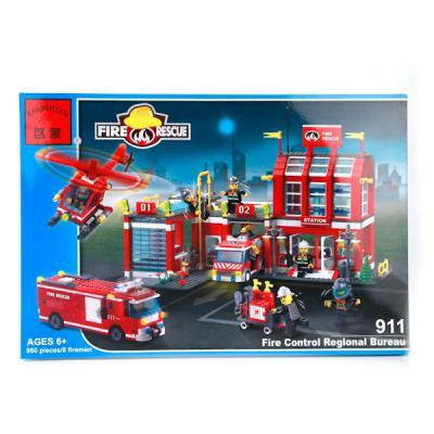 Конструктор ENLIGHTEN BRICK Пожарная часть и техника 980 элементов 911 BRICK911 конструктор brick вертолет 818