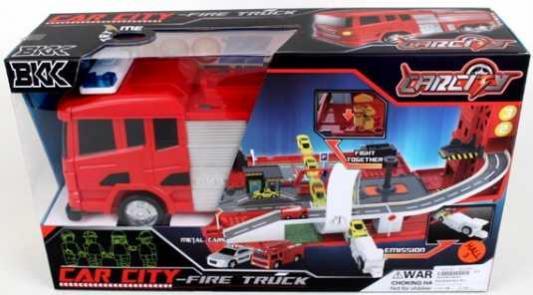 Пожарная машина Shantou Gepai Машина пожарная-парковка красный B1695688 shantou gepai парковка автозаправочная станция