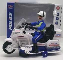 Мотоцикл Shantou Gepai Мотоцикл полиция с фигуркой белый B1607246