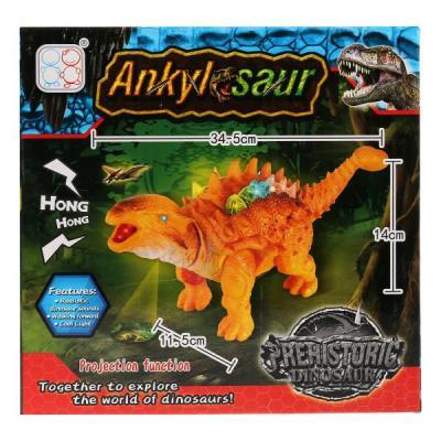 Купить Игрушка на бат. динозавр, свет+звук, цвет в ассорт. 3316 в кор. в кор.2*36шт, Shantou, разноцветный, пластик, унисекс, Игрушки со звуком