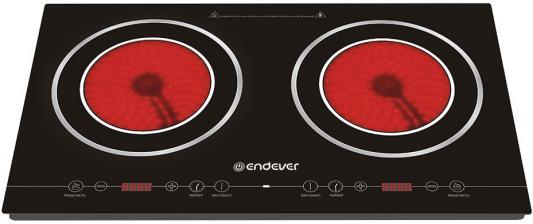 Плитка стеклокерамическая Endever Skyline DP-50 черный 4400Вт, 2 конфорки endever skyline 41 dp плитка электрическая